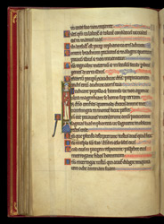 Historiated Initial Of A Standing Bishop, In A Psalter Preceded By Miniatures And A Calendar